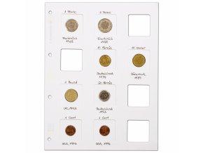 Albové listy MATRIX na mincovní rámečky