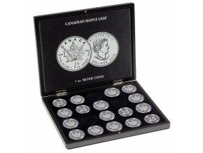 Kazeta na 20 mincí Maple Leaf (1 oz.)