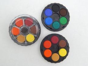 Barvy vodové kulaté 12