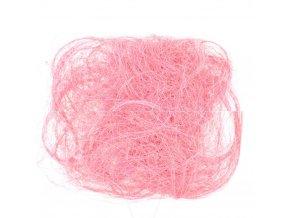 Sisalové vlákno 30g sv. růžové