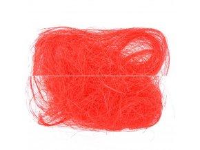 Sisalové vlákno 30g červené