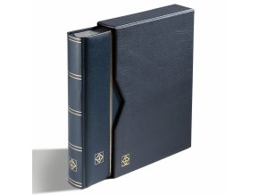 einsteckbuch din a4 64 seiten wattierter ledereinband inkl kassette blau