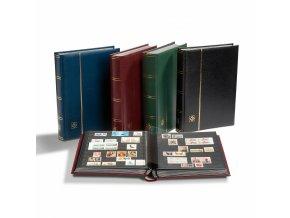 einsteckbuch din a4 64 seiten wattierter ledereinband inkl kassette blau 1