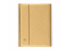 einsteckbuch comfort din a4 64 chamoisfarbene seiten wattierter einband gold