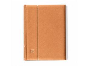einsteckbuch comfort din a4 64 chamoisfarbene seiten wattierter einband bronze