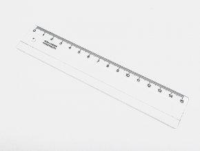 Pravítko 15cm čiré