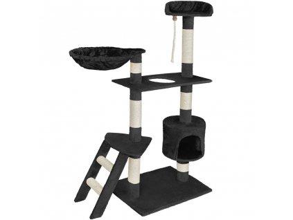 Kočičí škrabadlo XL - černé 152cm vysoké