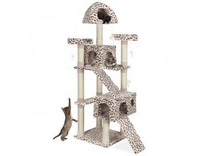 Kočičí škrabadlo XXL - leopardí 181 cm vysoké