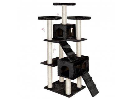 Kočičí škrabadlo XXL - černé 186cm vysoké