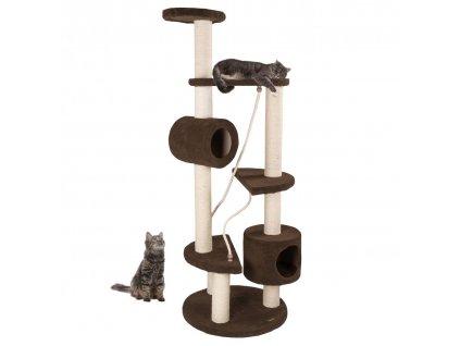 Kočičí škrabadlo a prolejzka XL - 163cm Hnědé