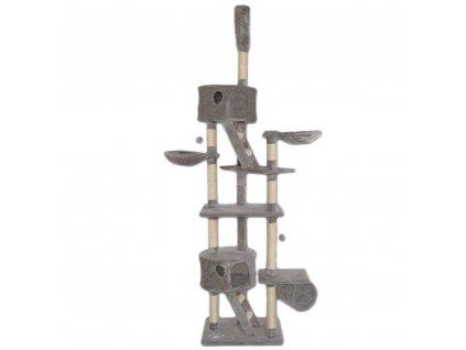 Kočičí škrabadlo XXXL - Světle antracitové 240-260cm vysoké