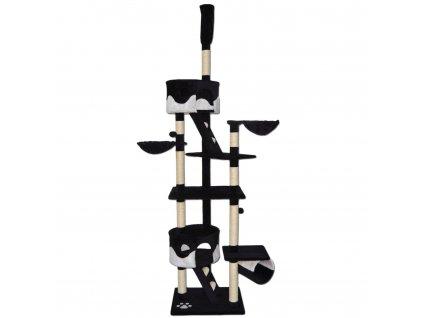 Kočičí škrabadlo XXXL - Černo-bílé 240-260cm vysoké