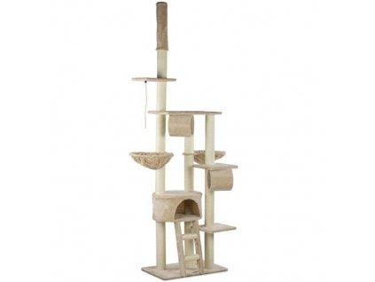 Kočičí škrabadlo XXL - béžové 230cm - 250cm vysoké