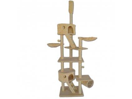 Kočičí škrabadlo XXXL - Béžové 240-260cm vysoké