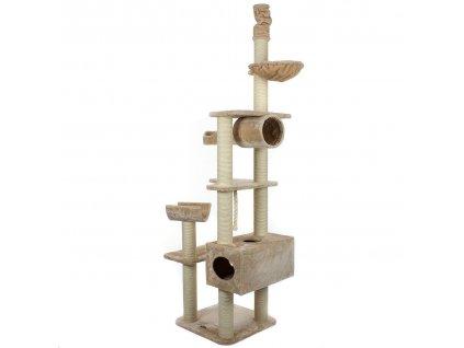Kočičí škrábadlo XXL - béžové 230cm - 260cm vysoké