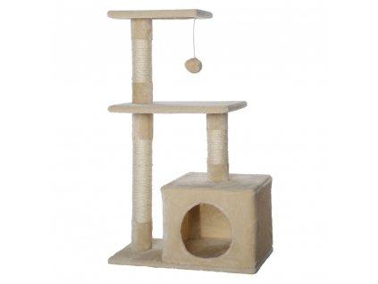 Kočičí škrabadlo - béžové 80cm vysoké