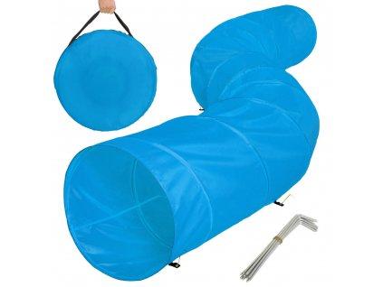 Tunel pro psa - závod agility, výcvik psa, modrý 500x60cm