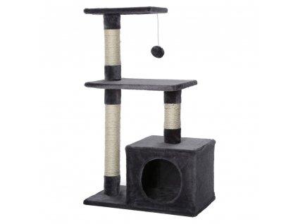 Kočičí škrabadlo - antracitové 80cm vysoké