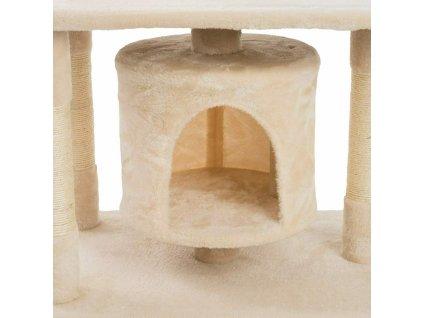 Kočičí škrabadlo - béžovo - bílé 90cm vysoké