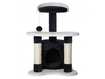 Kočičí škrabadlo - černo-bílé 65cm vysoké