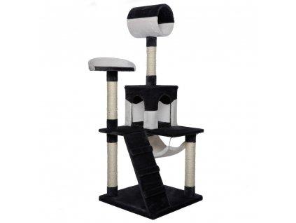 Kočičí škrabadlo - černo-bílé 133cm vysoké