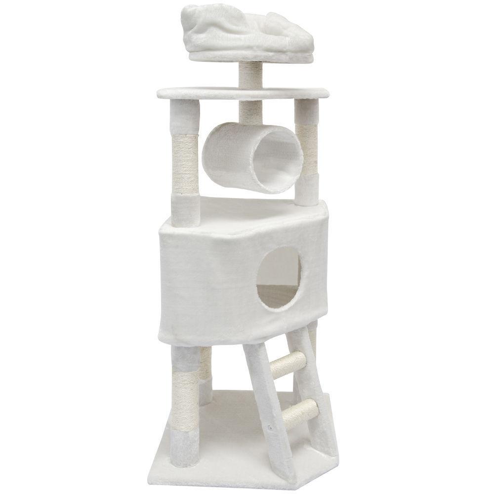 Kočičí škrabadlo XL - bílé 145cm