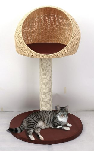 Kočičí škrabadlo venkovní - 93cm béžovo-hnědé