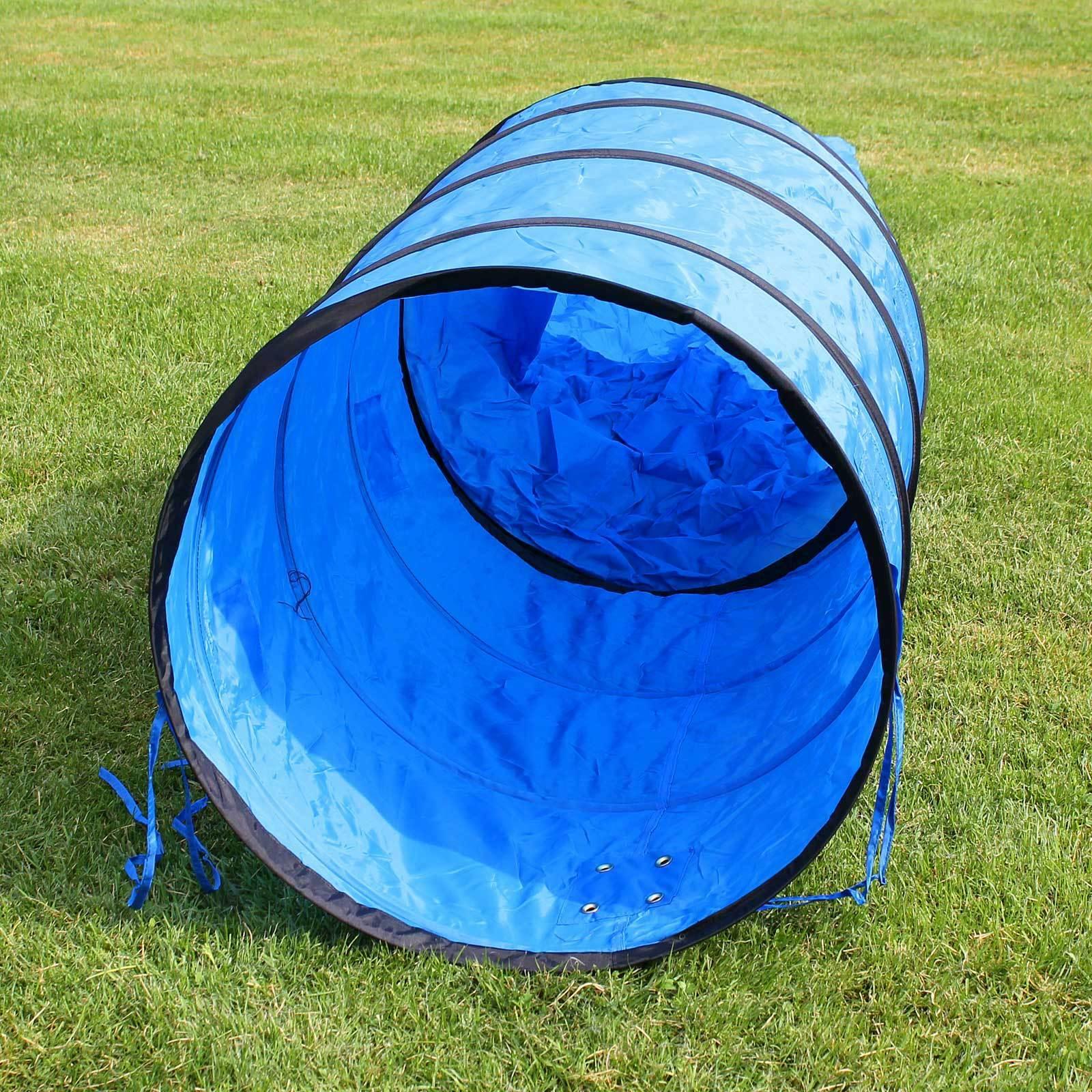 Tunel pro psa - závod agility, výcvik psa, tmavě modrý 400x60cm
