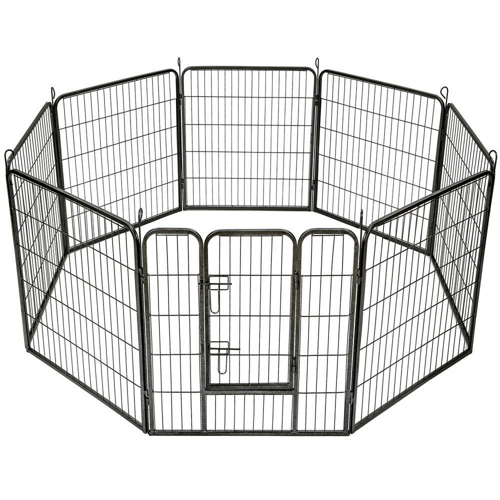 Ohrádka pro štěňata, koťátka, králíky, morčata - kovová V-80cm