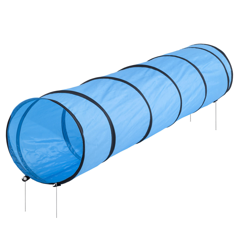 Tunel pro psa - závod agility, výcvik psa, modrý 200x43cm