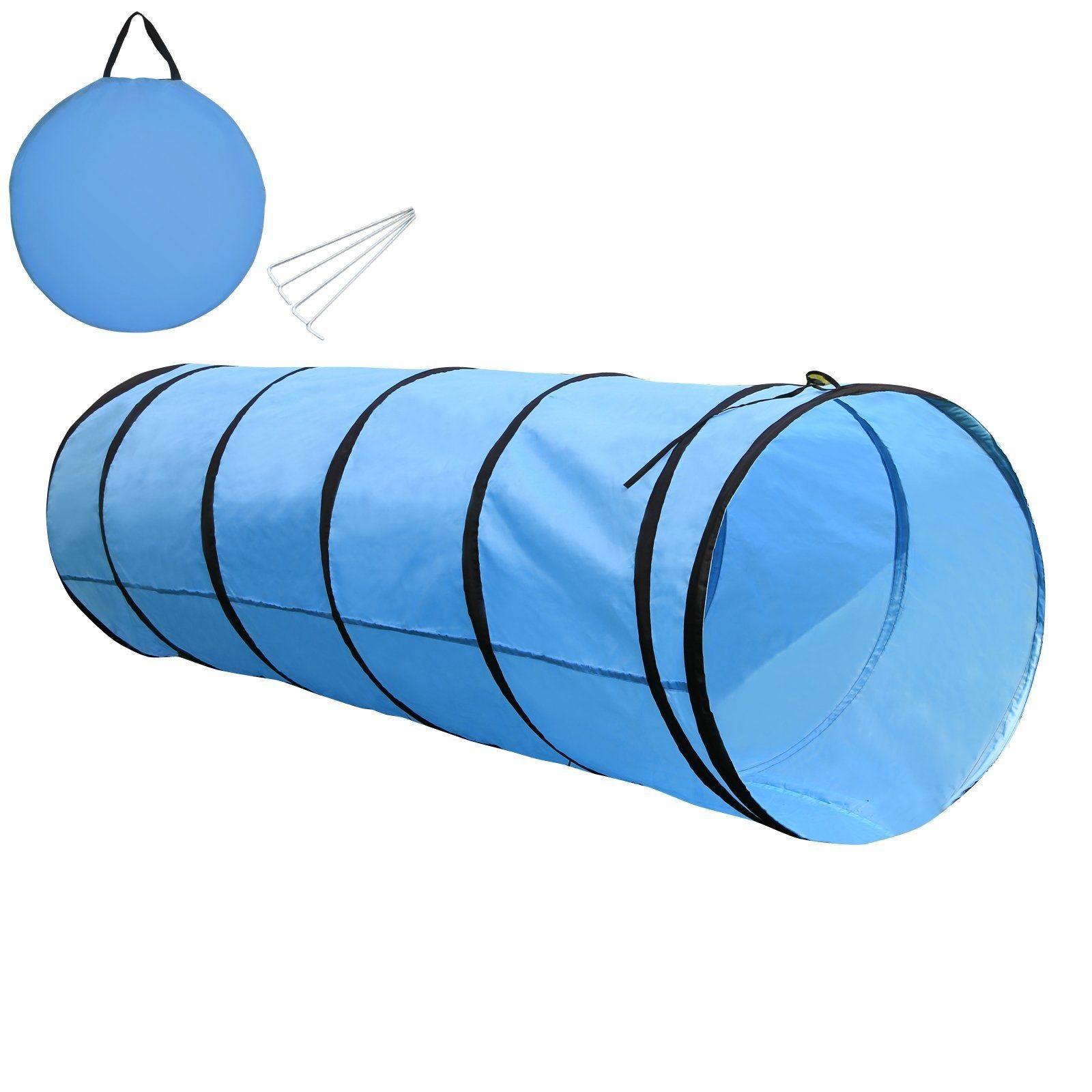 Tunel pro psa - závod agility, výcvik psa, modrý 200x60cm