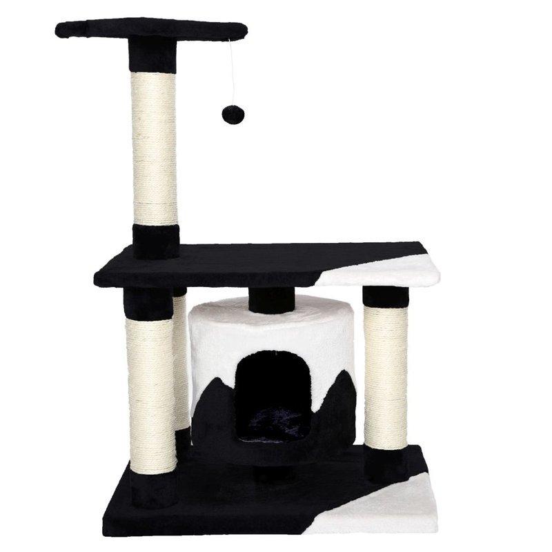 Kočičí škrabadlo - černo - bílé 90cm vysoké