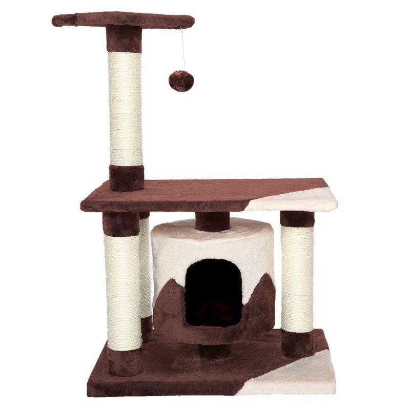 Kočičí škrabadlo - hnědo-béžové 90cm vysoké