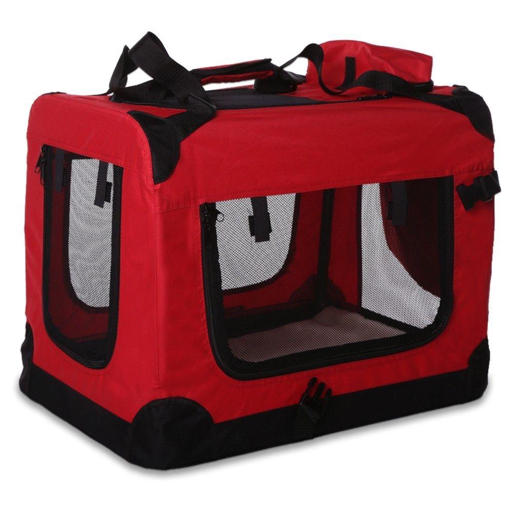 Transportní box pro psa – červený – velikost S