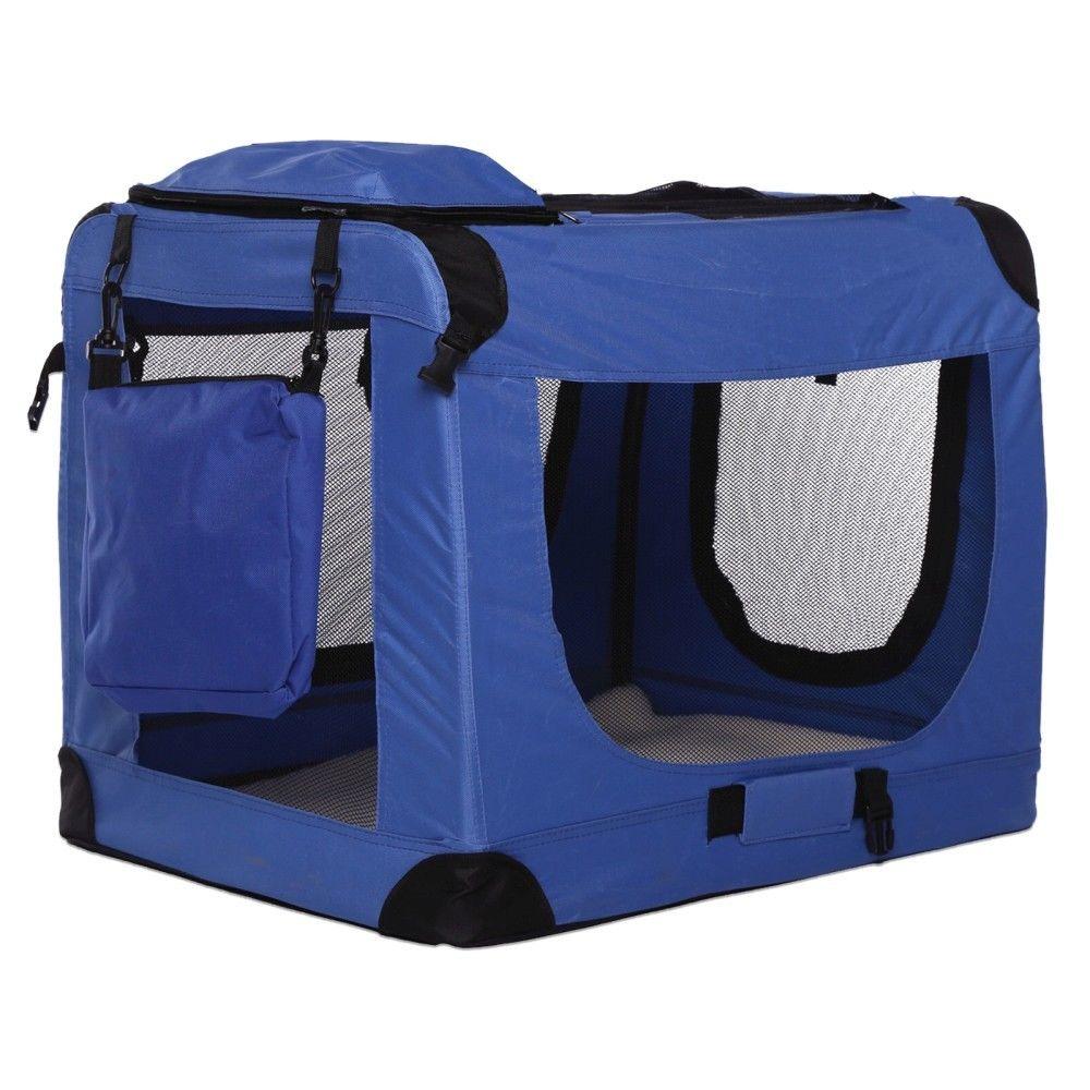 Transportní box pro psa – modrý – velikost S