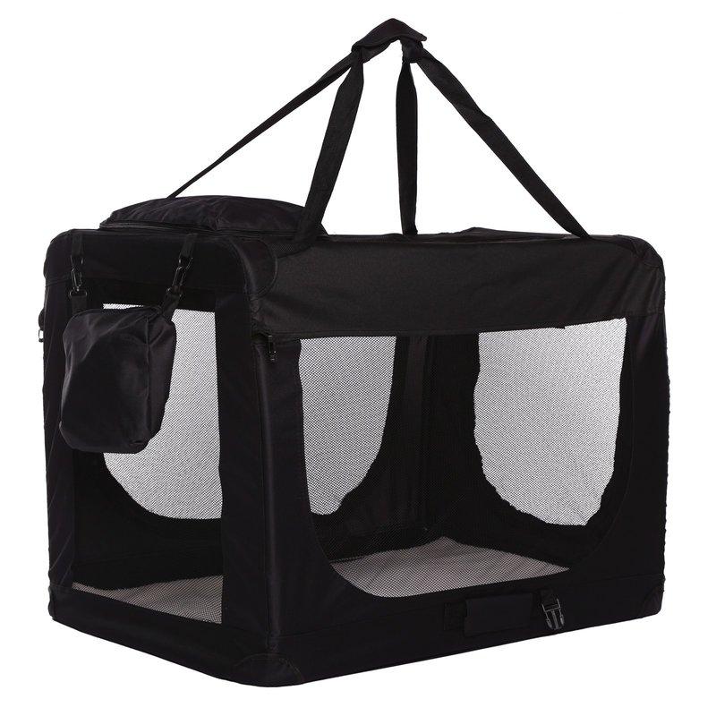 Transportní box pro psa – černý – velikost S