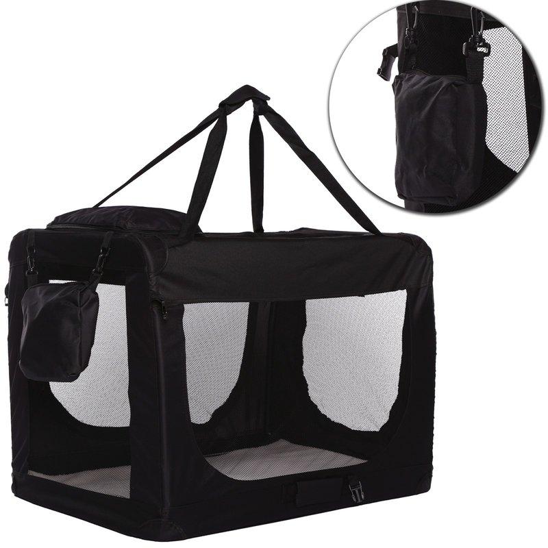 Transportní box pro psa – černý – velikost M
