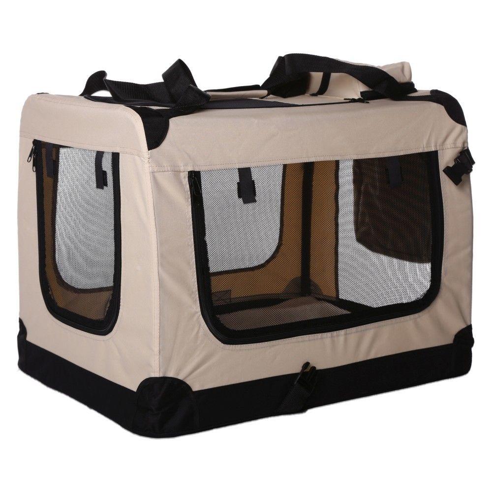 Transportní box pro psa – béžový – velikost M