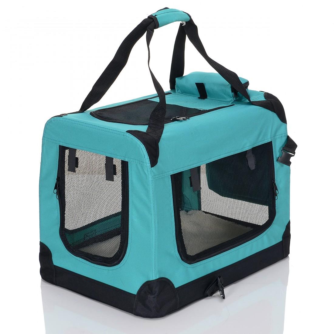 Transportní box pro psa – zelený – velikost S