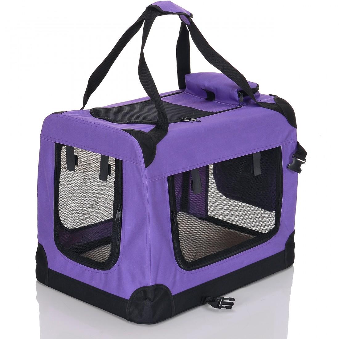 Transportní box pro psa – fialkový – velikost M