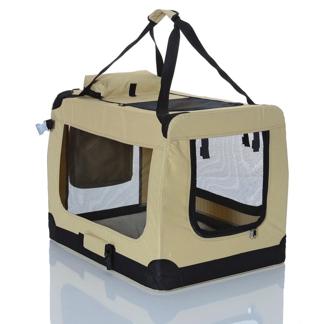 Transportní box pro psa – béžový – velikost XL