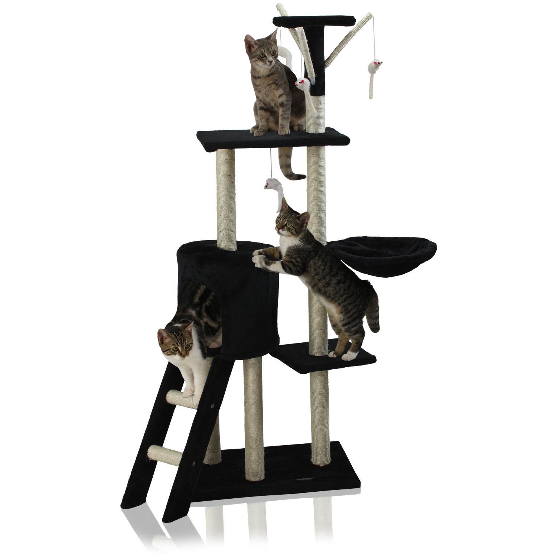 Kočičí škrabadlo XL - černé 138cm vysoké