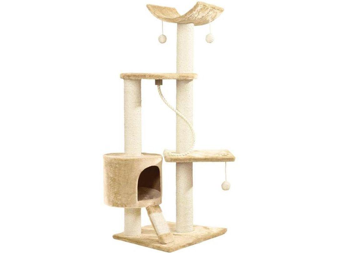 Kočičí škrabadlo - béžové 120cm vysoké