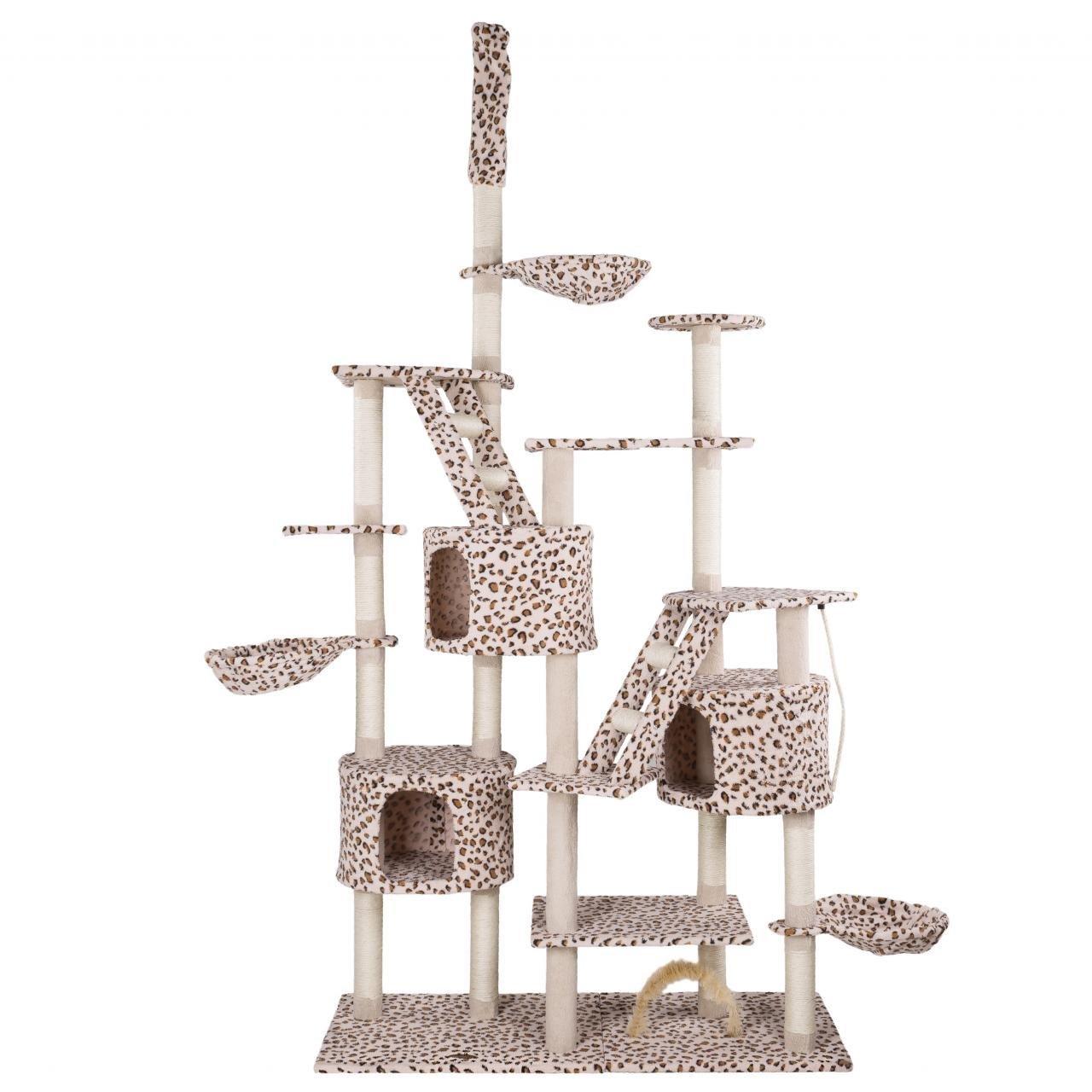 Kočičí škrabadlo XXXL - leopardí 260cm vysoké
