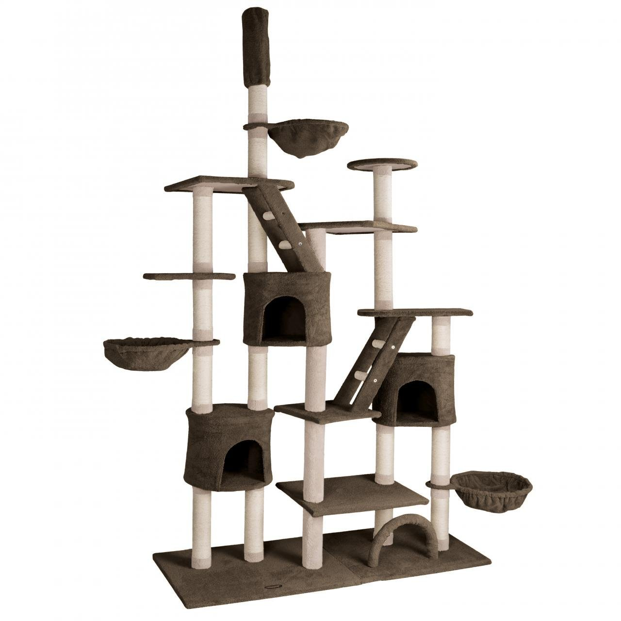 Kočičí škrabadlo XXXL - hnědé 260cm vysoké