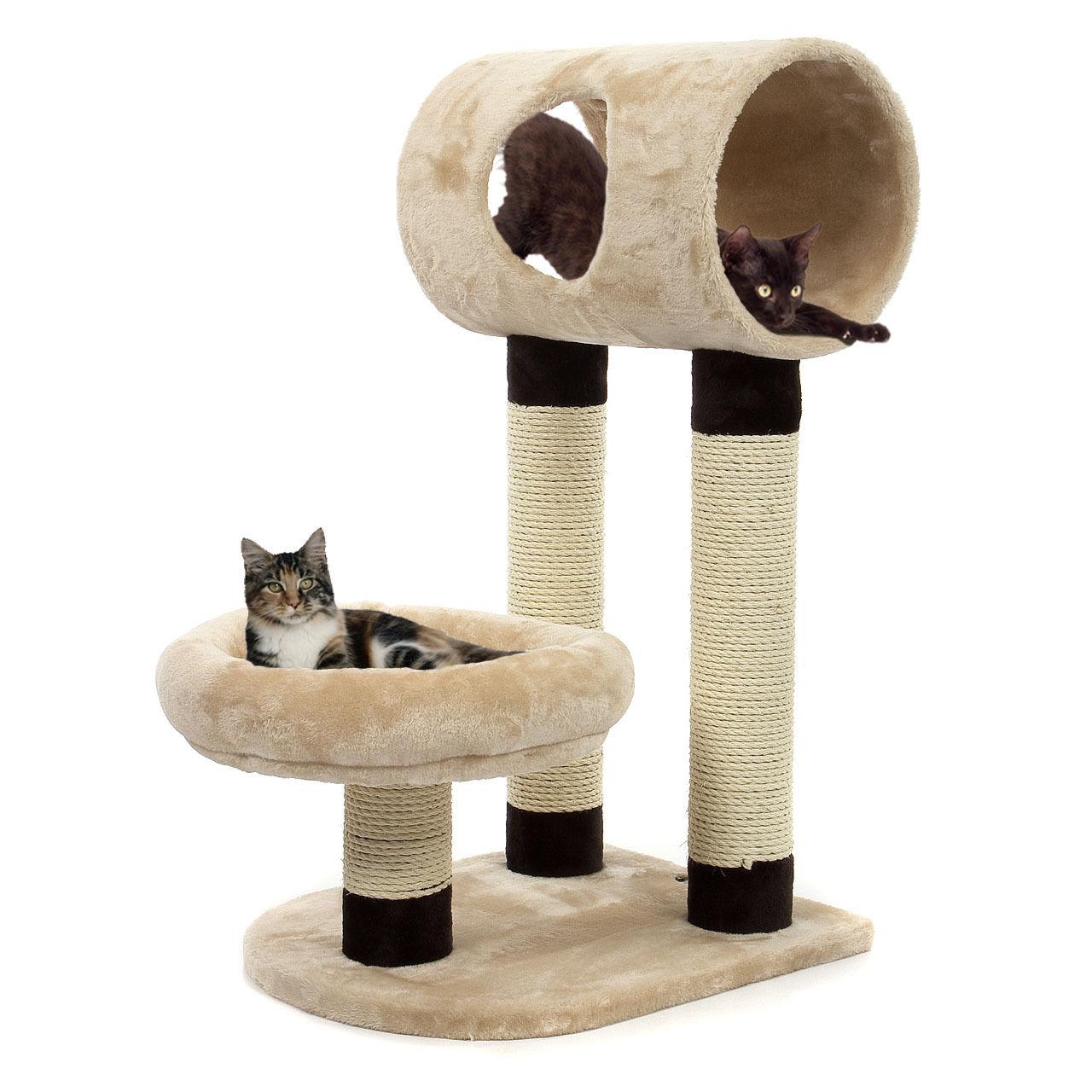 Kočičí škrabadlo XL - béžové 79cm vysoké