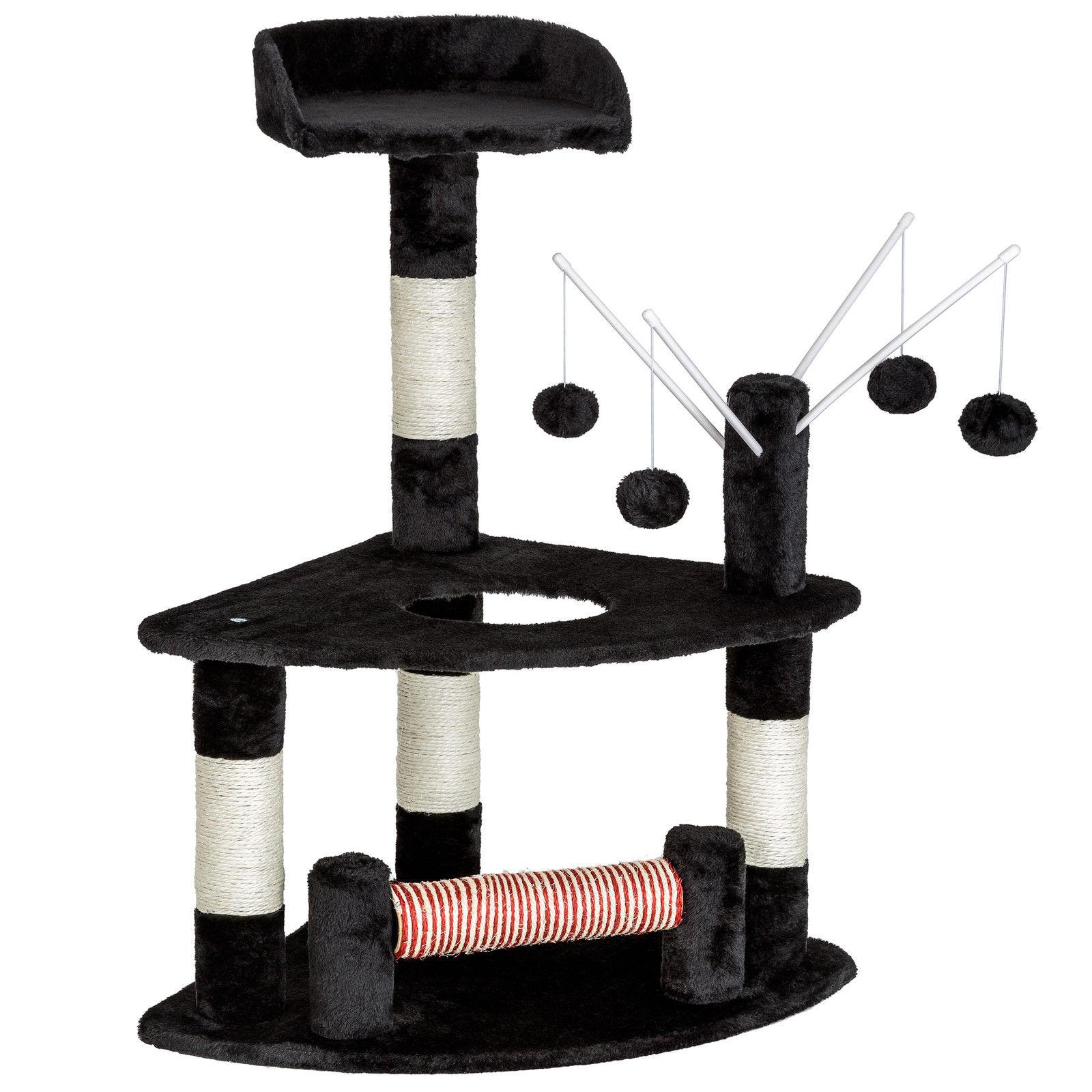 Kočičí škrabadlo - černé 90cm vysoké