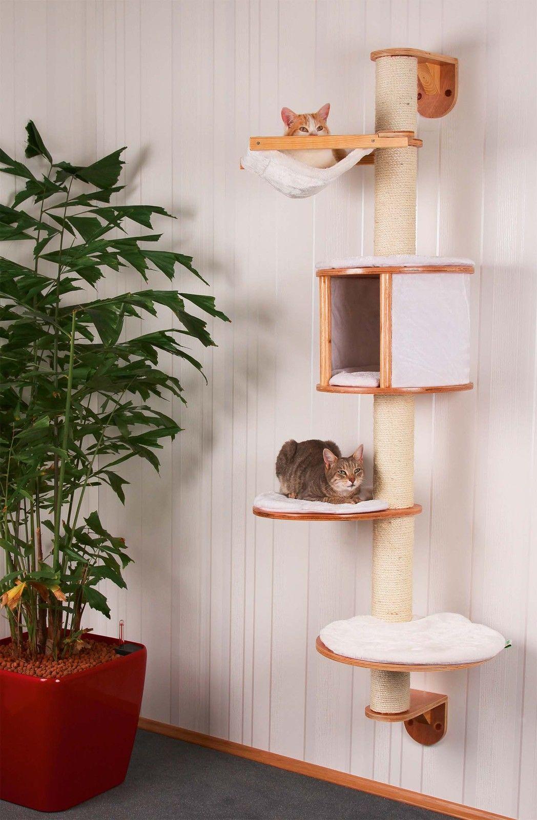 Kočičí škrabadlo na zeď 168cm vysoké