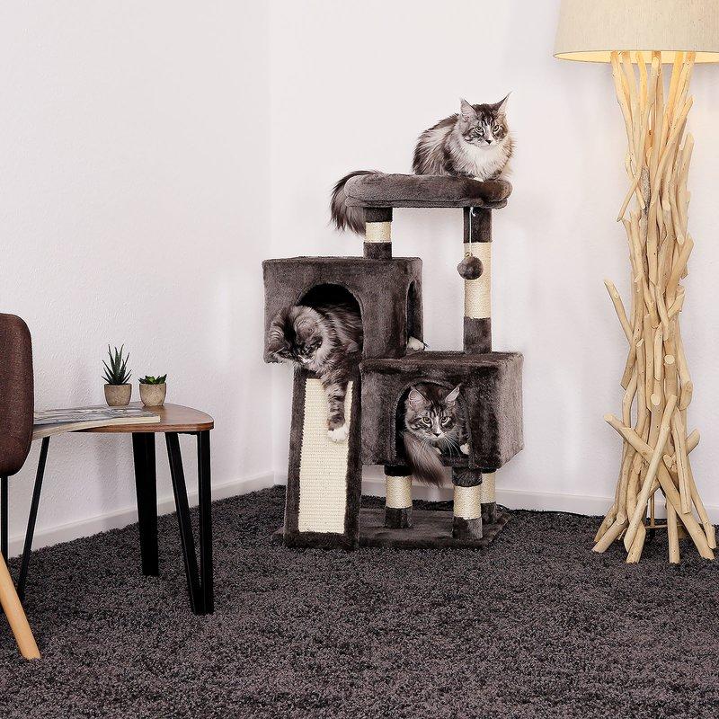 Nové kočičí škrabadlo XL - antracitové 131cm vysoké
