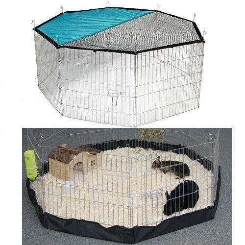 Ohrádka pro štěňata, koťátka, králíky, morčata, želvy - se zakrývací sítí a nylonovým dnem